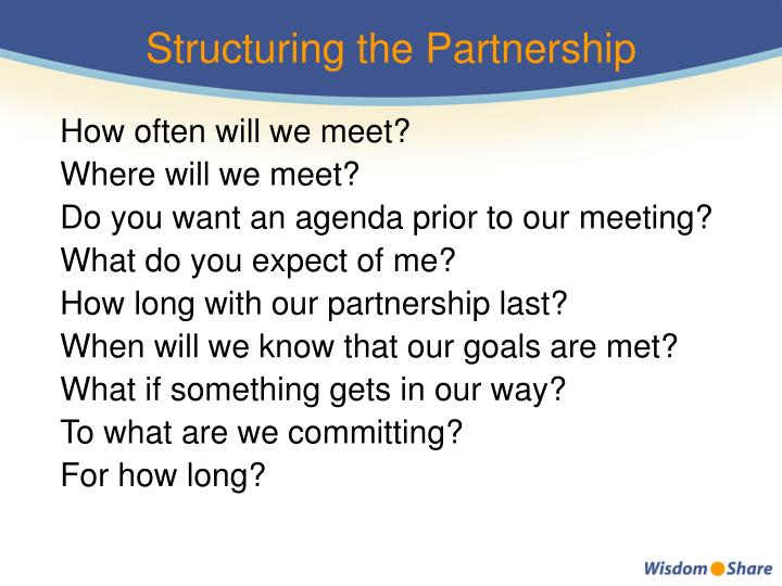 Structuring the Partnership