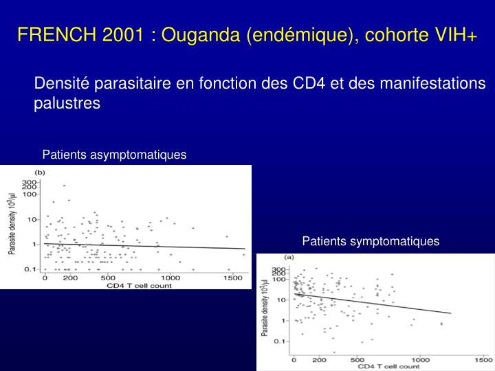 FRENCH 2001 : Ouganda (endémique), cohorte VIH+