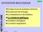 oxydation biologique1