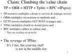 claim climbing the value chain tp orb http tplite rpc ipspray