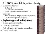 clones availability scalability