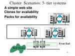 cluster scenarios 3 tier systems