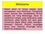 mistisisme