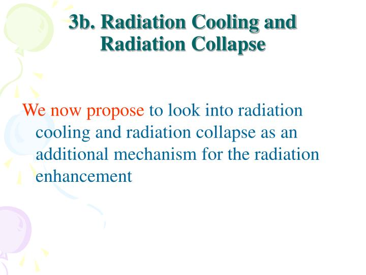 3b. Radiation Cooling and