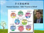 howard gardner 1983 frames of mind