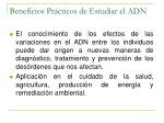 beneficios pr cticos de estudiar el adn