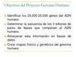 objetivos del proyecto genoma humano