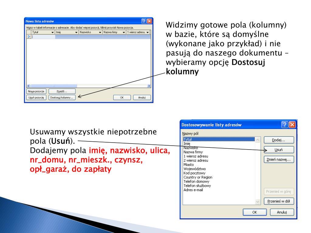 Ppt Korespondencja Seryjna Powerpoint Presentation Free