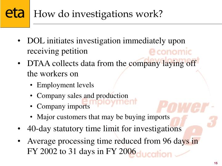 How do investigations work?