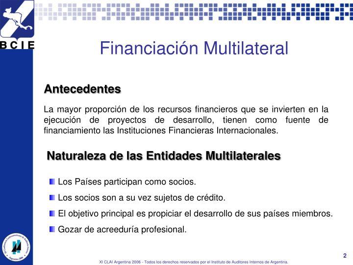 Financiaci n multilateral