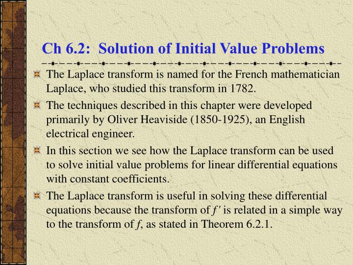 ch 6 2 solution of initial value problems n.