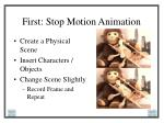 first stop motion animation