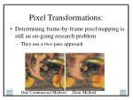 pixel transformations