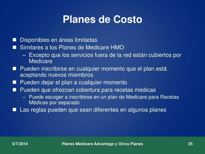 Planes de Costo