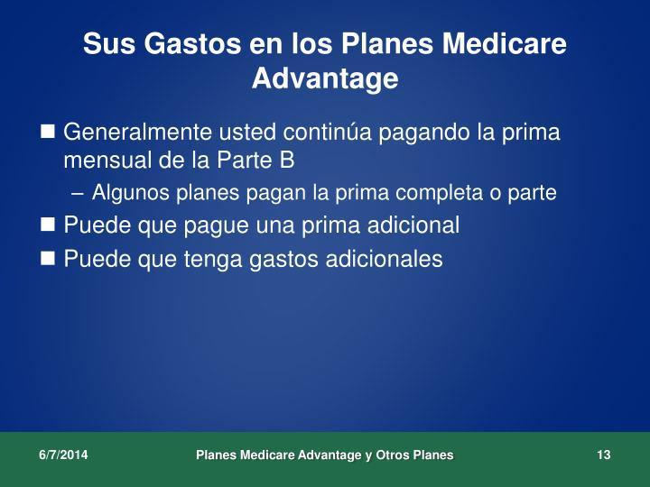 Sus Gastos en los Planes Medicare Advantage