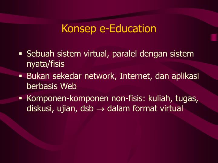 Konsep e-Education