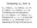 computing d i 1 from d i
