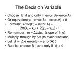 the decision variable