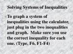 solving systems of inequalities1