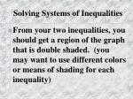 solving systems of inequalities2