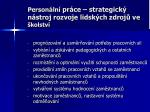 person ln pr ce strategick n stroj rozvoje lidsk ch zdroj ve kolstv