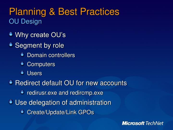 Planning & Best Practices