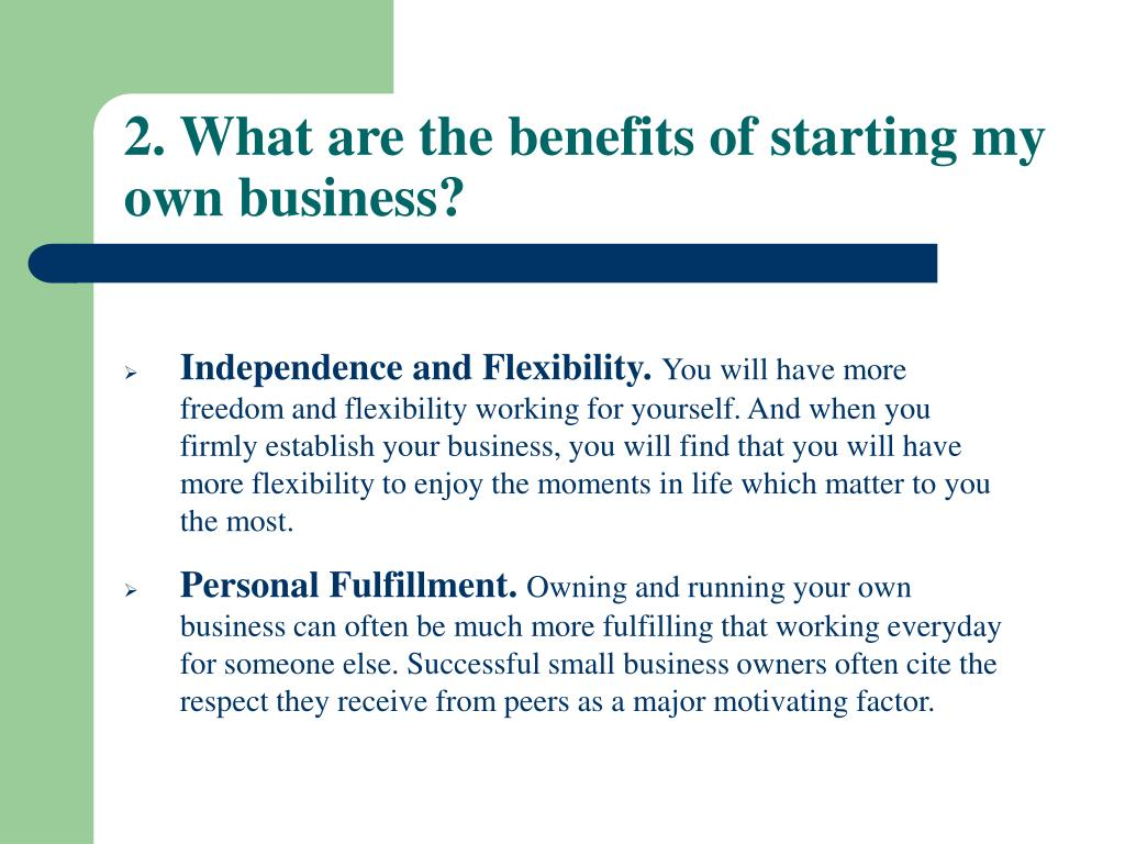 PPT - Small Business, Big Future How to Start Your Own Small