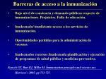 barreras de acceso a la inmunizaci n