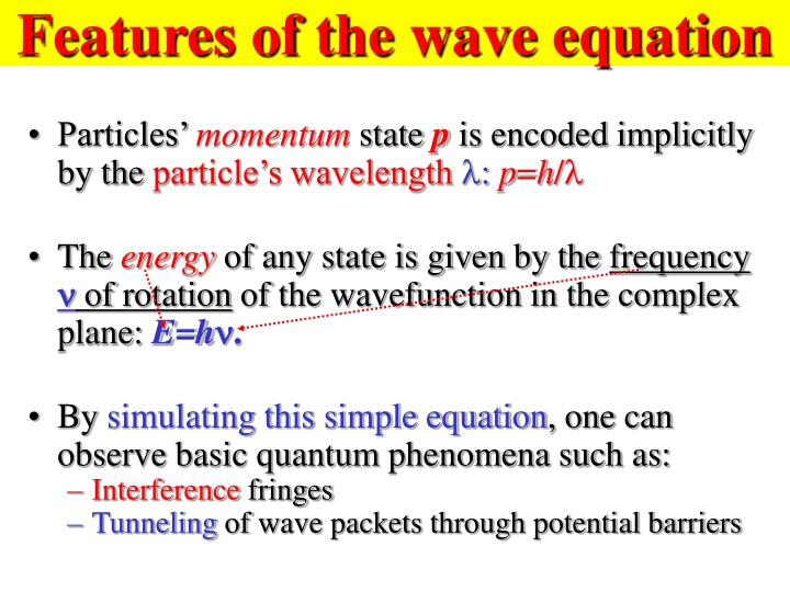 Features of the wave equation