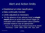 alert and action limits