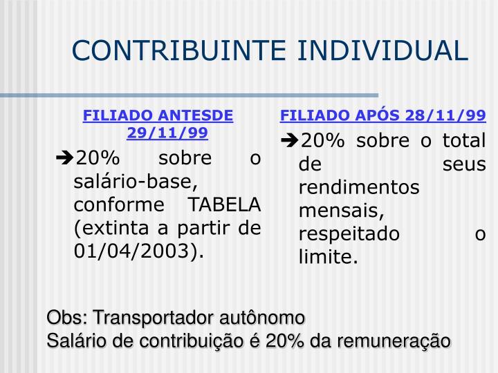 FILIADO ANTESDE 29/11/99