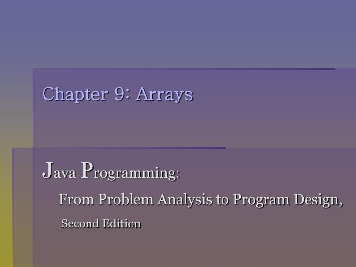 chapter 9 arrays n.