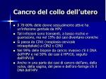 cancro del collo dell utero