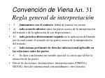convenci n de viena art 31 regla general de interpretaci n1