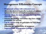 management efficiencies concept