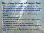 operational actions to mitigate risk