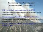 supporting the planning and documentation effort cont
