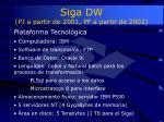 siga dw pj a partir de 2001 pf a partir de 2002