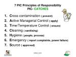 7 pic principles of responsibility pic catches