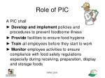 role of pic