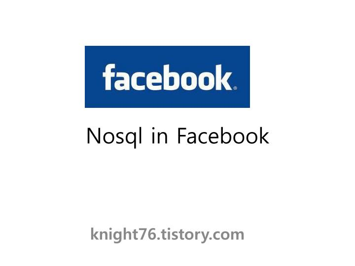 nosql in facebook n.