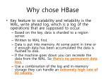 why chose hbase