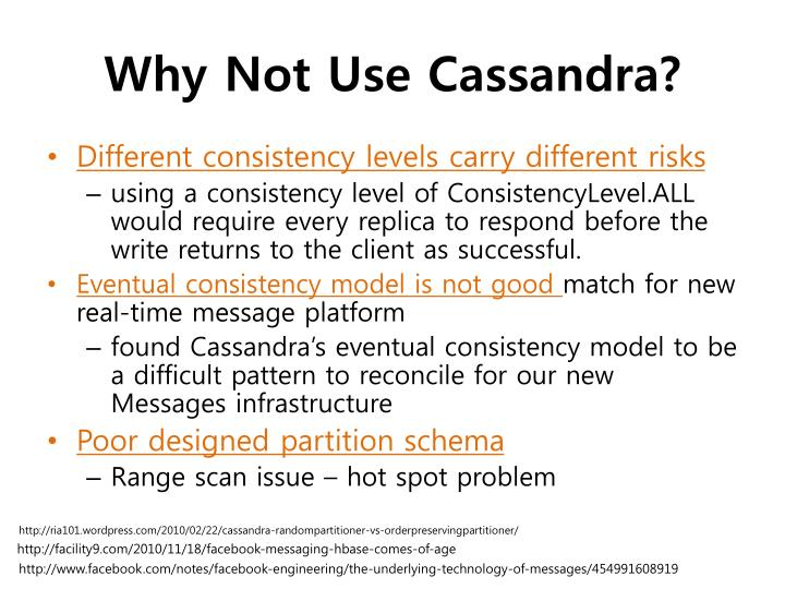 Why Not Use Cassandra