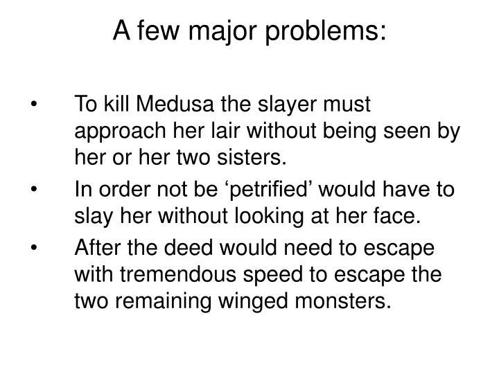 A few major problems: