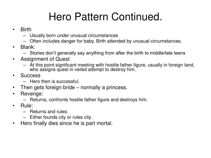 Hero Pattern Continued.