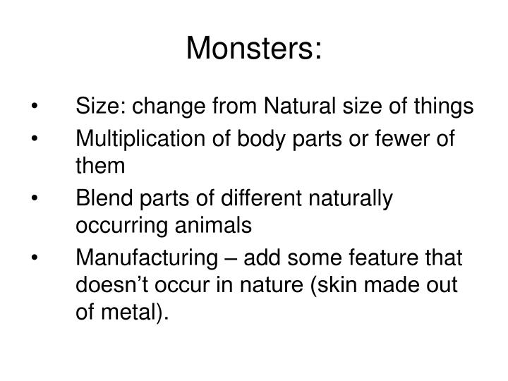 Monsters: