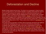 deforestation and decline