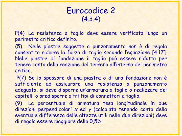 Eurocodice 2 4 3 4