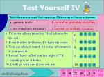 test yourself iv1