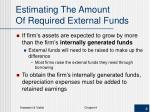 estimating the amount of required external funds
